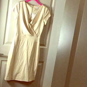 Tan sheath pencil dress